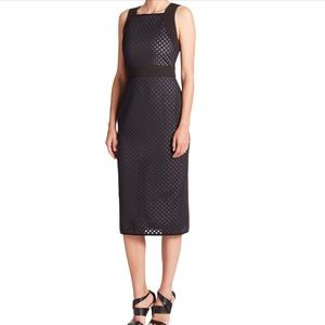 Shoshanna Black Laser Cut Scuba Sleeveless Dress 6